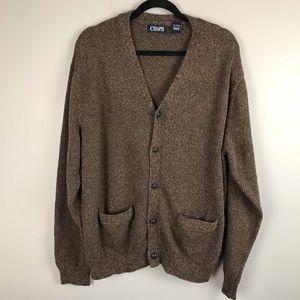 Chaps brown mingle button front cardigan sz XL